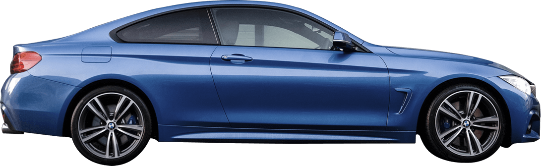 Blue Car Sideview